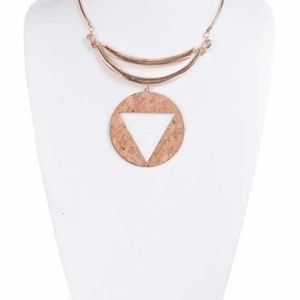 Brown Cork Necklace Pendant
